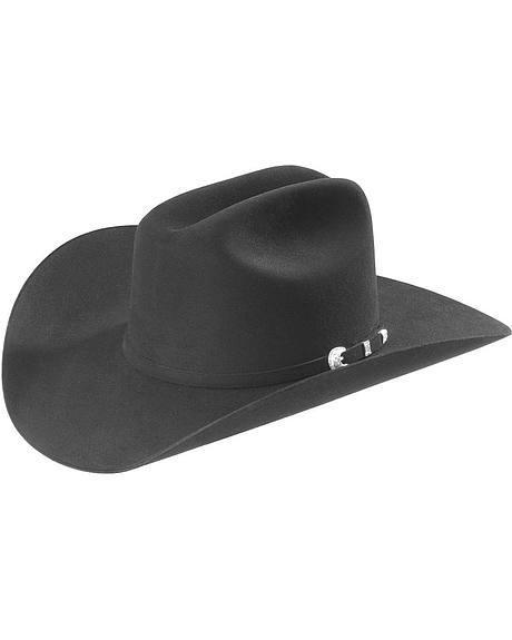 Stetson Black 10X Shasta Fur Felt Western Hat