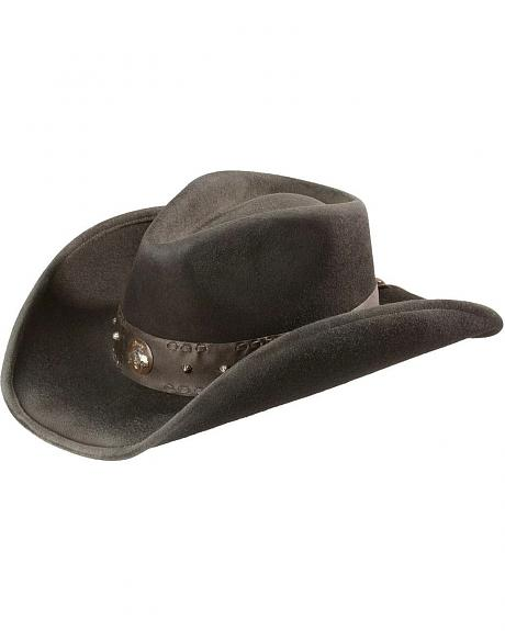 Scala Bronco Concho Wool Felt Hat