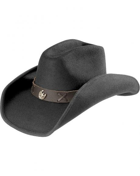 Scala Horseshoe Concho Wool Felt Hat