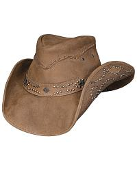 Hidden Pleasure Top Grain Leather Hat at Sheplers