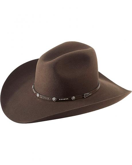 Sheplers Exclusive - Justin 4X Crockett Pecan Fur Cowboy Hat