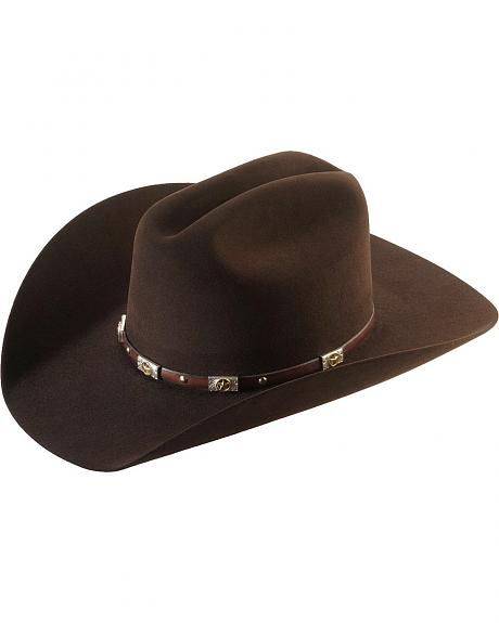 Larry Mahan 5X Alamo Brown Fur Felt Cowboy Hat