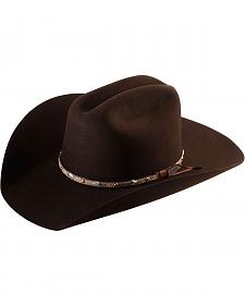 Larry Mahan 5X Brindle Brown Fur Felt Cowboy Hat