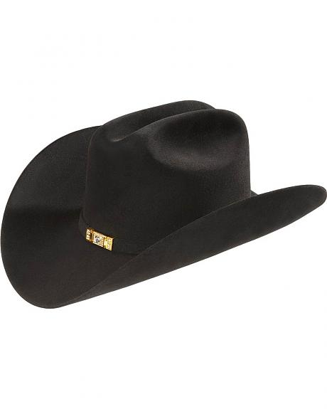 Larry Mahan Black 30X Majestad Fur Felt Cowboy Hat