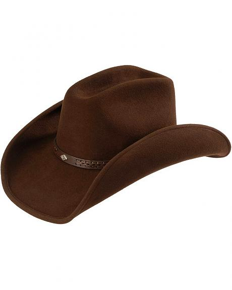 Scala Woven Hat Band Wool Felt Cowboy Hat