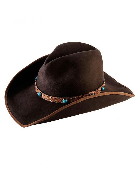 Scala Bound Edge Wool Felt Cowboy Hat