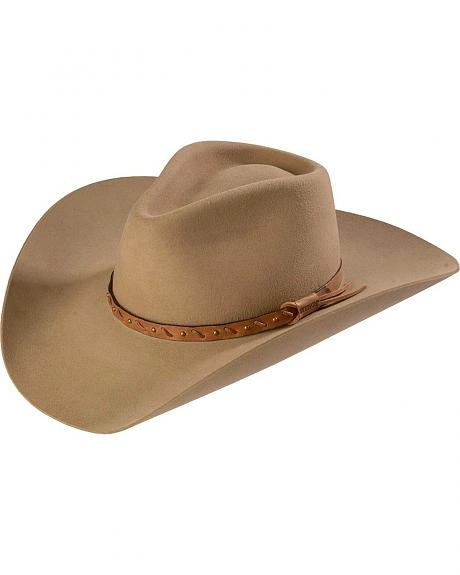Stallion by Stetson 3X Quarry Stone Pinchfront Felt Hat