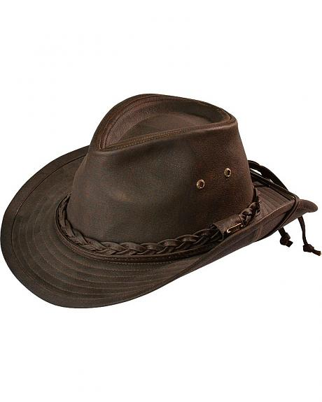 Stetson Faux Oilcloth Outback Hat