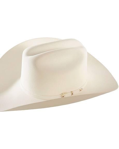 Larry Mahan 30X Magno White Fur Cowboy Hat