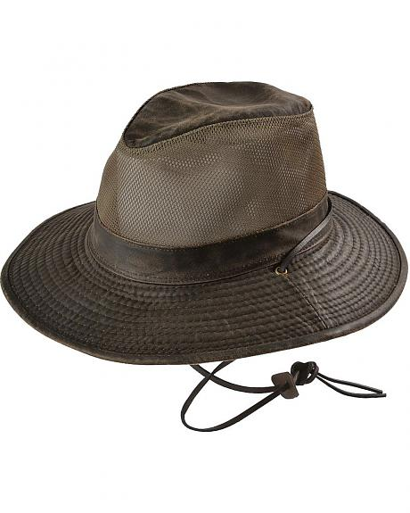 Safari Weathered with Mesh UPF50 Outback Hat