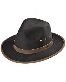 Outback Trading Co. Black Madison River UPF50 Sun Protection Oilskin Hat