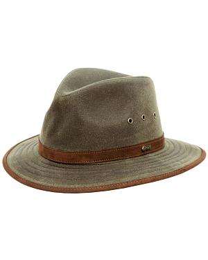 Outback Trading Co. Tan Madison River UPF50 Sun Protection Oilskin Hat