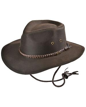 Outback Trading Co. Brown Grizzly UPF50 Sun Protection Oilskin Hat