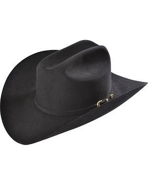Larry Mahan Black Reno 6X Fur Felt Cowboy Hat