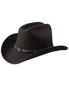 Jack Daniel's Studded Concho Wool Felt Crushable Cowboy Hat