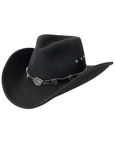 Jack Daniel's Logo Conchos Crushable Wool Felt Cowboy Hat