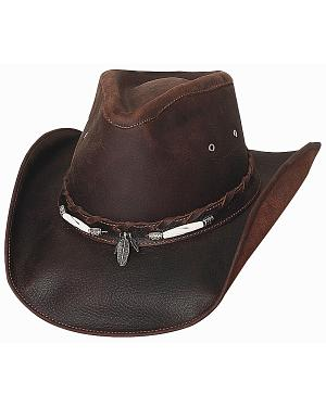 Bullhide Briscoe Leather Cowboy Hat