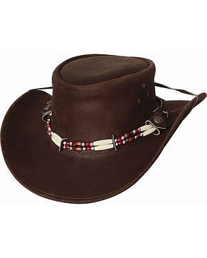 Bullhide Uplander Leather Cowboy Hat