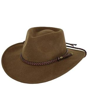 Outback Trading Co. Broken Hill Crushable Australian Wool Hat