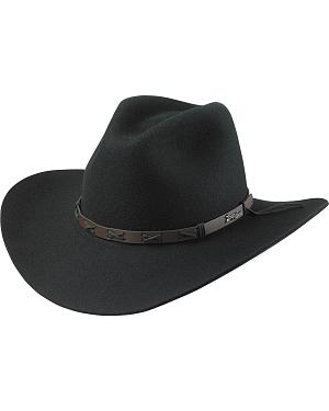 Tony Lama Black 3X Wool Felt Cowboy Hat