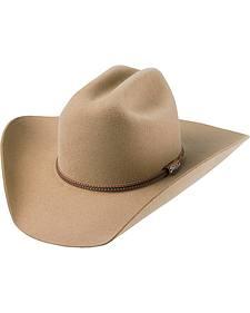 Tony Lama Low Rodeo Pecan 3X Wool Cowboy Hat