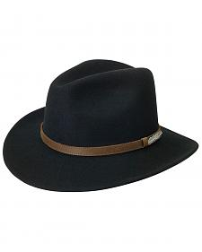Black Creek Small Brim Crushable Wool Felt Hat