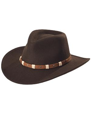 Black Creek Black Crushable Wool Felt Hat