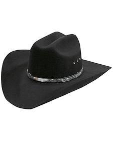 Silverado Silver-tone Inset Hat Band Wool Felt Cowboy Hat