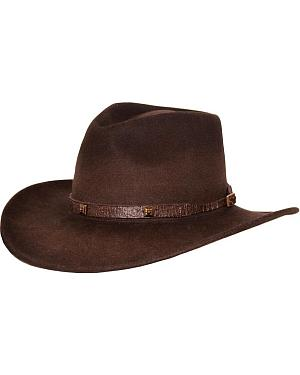 Outback Trading Co. Stamped Approval UPF50 Sun Protection Crushable Wool Hat
