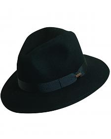 Scala Men's Black Wool Felt Safari Hat