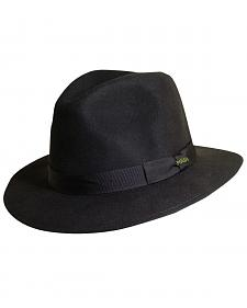 Scala Men's Chocolate Wool Felt Safari Hat