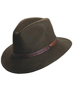 Scala Crushable Wool Outback Hat