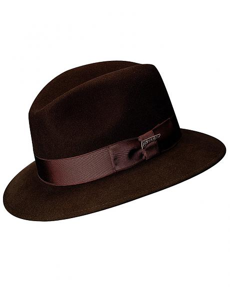 Scala Men's Brown Wool Felt Safari Hat