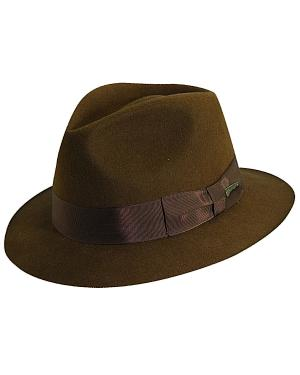 Indiana Jones Pinch Front Wool Felt Fedora Hat