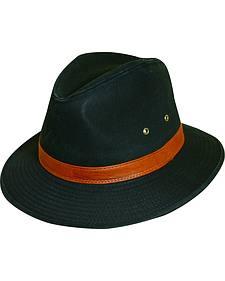 Dorfman Pacific Black Twill Safari Hat