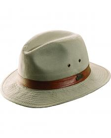 Dorfman Pacific Light Khaki Twill Safari Hat
