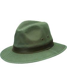 Dorfman Pacific Olive Green Twill Safari Hat