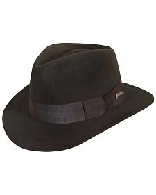 Indiana Jones Men's Brown Wool Felt Fedora Hat