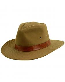 Scala Men's Bark Twill Outback Hat