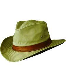 Dorfman Pacific Men's Cotton Outback Hat