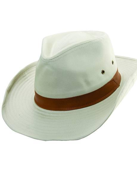 Scala Men's Bark Twill Outback Hat