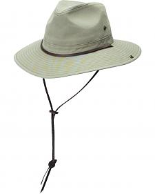 DPC Authentic Khaki Safari Hat with Side Snaps