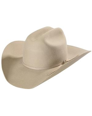 Bailey Western Stampede Silver Cattleman Crown Hat