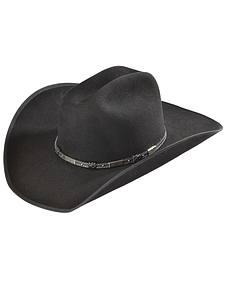 Justin Bent Rail 7X Dagger Black Fur Felt Cowboy Hat