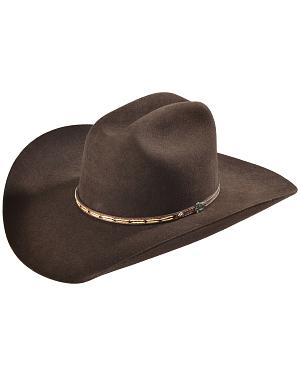 Justin 7X Bent Rail Bear Down Chocolate Cowboy Hat