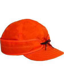 Stormy Kromer Men's Blaze Orange Waxed Cotton Cap