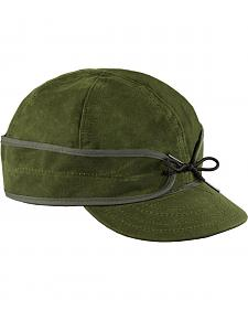 Stormy Kromer Men's Olive Waxed Cotton Cap