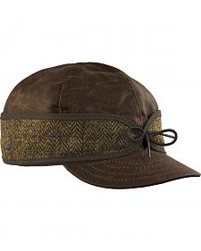 Stormy Kromer Men's Brown Harris Tweed Waxed Cotton Cap