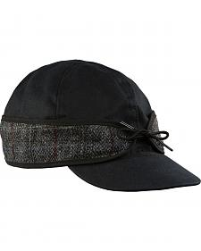 Stormy Kromer Men's Black Harris Tweed Waxed Cotton Cap