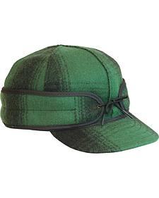 Stormy Kromer Men's Green & Black Plaid Original Cap